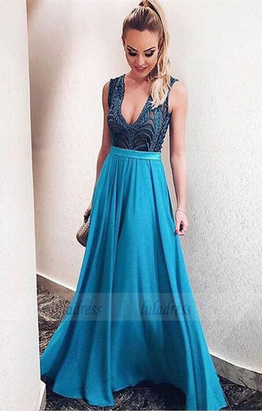 fashion backless prom dresses with beading, elegant evening gowns,BD98727