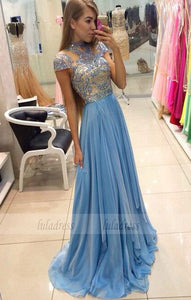 Beaded Party Dresses,Chiffon Pageant Formal Dress,Prom Dresses,BD99366