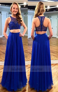 2 Piece Prom Gown,Two Piece Prom Dresses,Evening Gowns,2 Pieces Party Dresses,BD99368