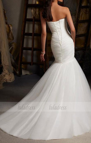 Tulle Wedding Gown,Lace Wedding Gowns,Mermaid Bridal Dress,BD99322