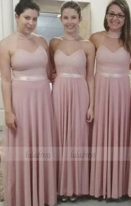 Sexy Bridesmaid Dress,Stylish Pearl Pink Bridesmaid Dresses,BD99527
