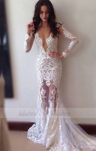 New Mermaid Wedding Dress,Sexy Sheath Lace Wedding Dresses,BD99528