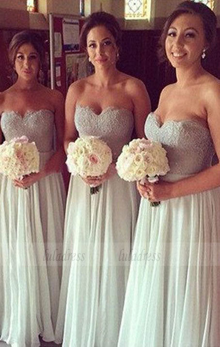 Sequin Bridesmaid Dress,Long Bridesmaid Gown,Sequined Bridesmaid Gowns,BD98315