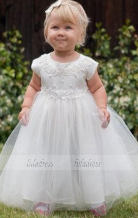 Long Lace Baby Girl Birthday Wedding Party Formal Flower Girls Dress baby Pageant dresses,BD99403