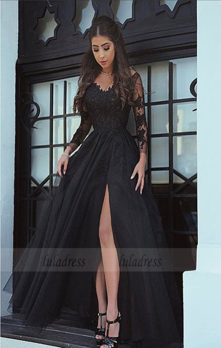 Long Sleeves Evening Gowns,Long Sleeves Prom Dress,BD98488