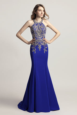 Formal Mermaid Long Prom Dress Charming Sleeveless Evening Dress, LX440