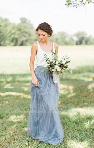 long bridesmaid dress, chiffon bridesmaid Dress,BD98875