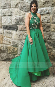 High Low Prom Dresses with Lace Appliques,BD98580
