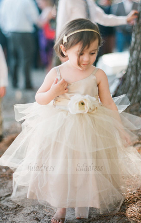a3c3fae9f Ivory Flower Girls dress Forest Girl Dress Wedding Toddler girl dress Baby  girl dress birthday outfit ...