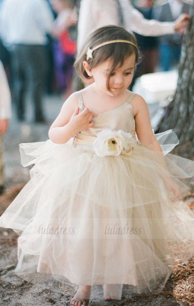 Ivory Flower Girls dress Forest Girl Dress Wedding Toddler girl dress Baby girl dress birthday outfit flower girl dresses,BD99737
