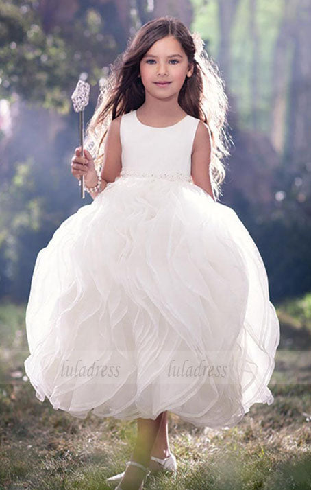 Puffy Vintage Flower Girl Dresses for Wedding,BD99757