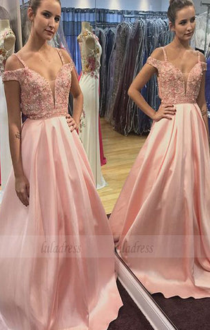 formal prom party dresses with appliques beaded,evening gowns,BD98638