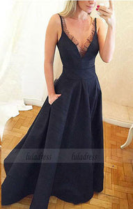 Cheap A-Line Deep V-Neck Sleeveless Chiffon Long Prom/Evening Dress,BD98179