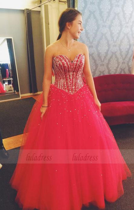 Tulle Prom Dresses,Princess Prom Dress,Long Prom Gown,BD98556