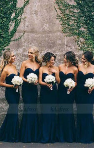 Strapless Mermaid Bridesmaid Dress, Bridesmaid Dress,BD98960
