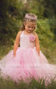 Lace Girl Birthday Wedding Party Formal Flower Girls Dress baby Pageant dresses,BD99409