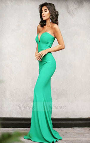 green sweetheart mermaid prom dresses sexy long evening gowns,BD98141