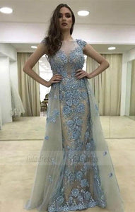 A-Line Prom Dress with Beading Flowers,BD98761