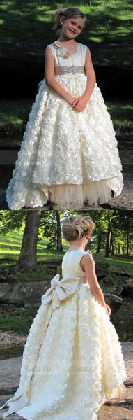 Gorgeous Girls Pageant Dress With Crystals Sash Flower Girl Dresses,BD99761
