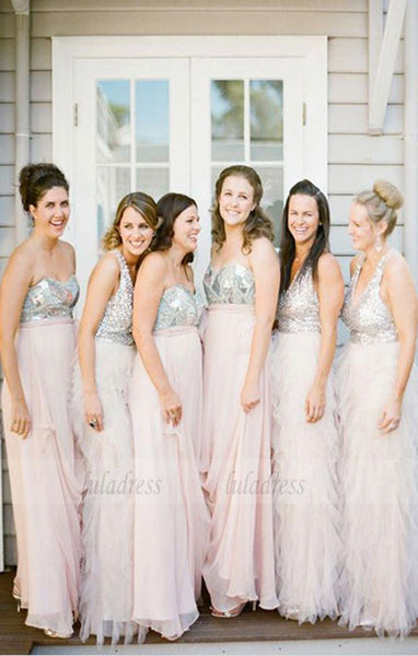Simple Bridesmaid Dress,Beaded Bridesmaid Dresses,BD98962