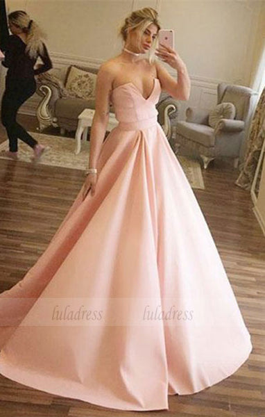 elegant ball gown,unique satin party dresses,BD98717