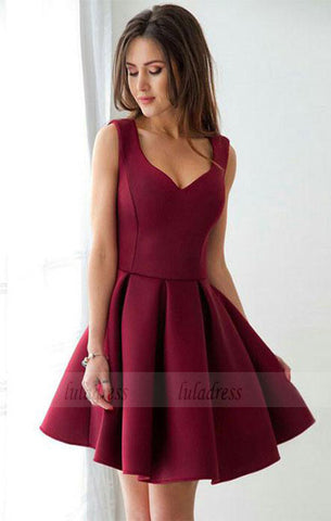 sexy homecoming dress,red prom dress,short dress