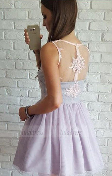 Hot Sale Short Homecoming Prom Dress Trendy Lilac Prom Dresses,BD98407