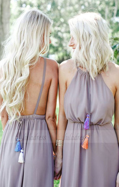 chic backless fall bridesmaid dresses, simple fashion evening gowns, Sage Bridesmaid Dresses,BD98292