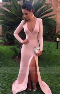 long sleeves prom dress,mermaid evening gowns,sexy prom dresses,BD99913