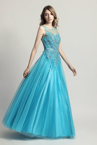A-line Princess Long Evening Dress Formal Prom Dress, LX425