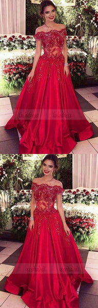 red prom dresses,long prom dresses,beaded prom dresses,BD99914