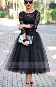 Tulle Prom Dress,Black Evening Formal Dress,Women Dress,BD99391