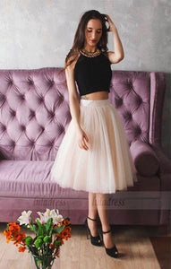 Ball Gown Sweetheart Short Ivory Tulle Homecoming Dress with Appliques