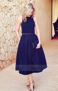Two Piece Party Prom Dresses with Pockets,BD98507