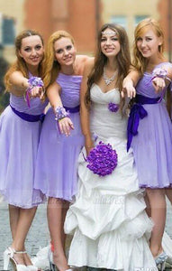 short bridesmaid dress,one shoulder bridesmaid dress,cheap bridesmaid dress,BD98909