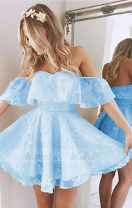 Off Shoulder Prom Dress,Cute Homecoming Dresses