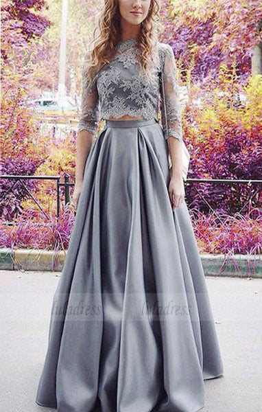 A-line Prom Dress, 2 Pieces Prom Dress, Sexy Prom Dress,BD98477