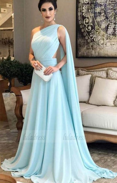Simple chiffon prom dresses,floor length party dresses,BD98073