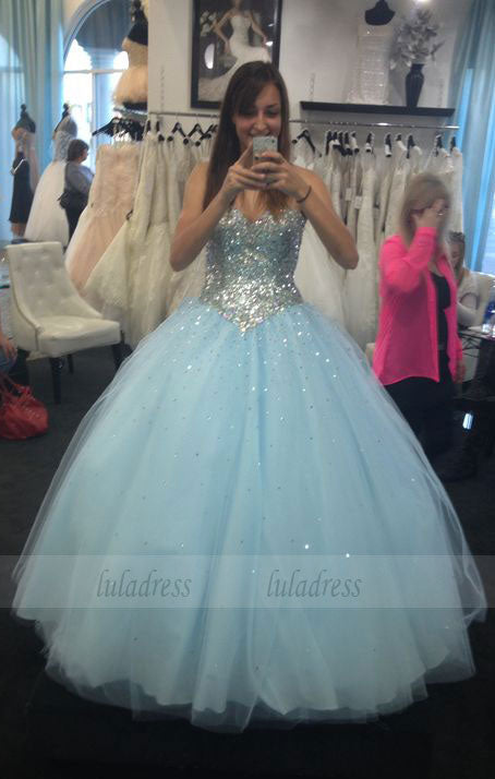 Charming Prom Dress,Tulle Prom Dress,Ball Gown Prom Dress,Sequin Evening Dress,BD99919