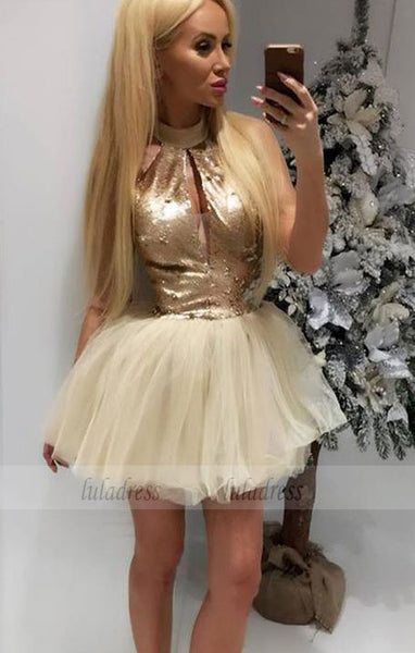 Homecoming Cocktail Dress with Keyhole,BD99484