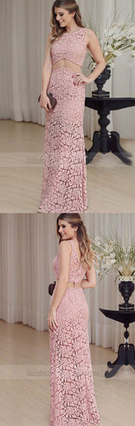 Lace Prom Dresses,Pink Prom Dress,Sexy Prom Dress,BD99823