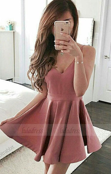 Sexy Prom Dress Party Dress, A-line V-neck Cocktail Dress, Mini Short Prom Dresses,BD98431