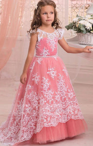 Lace Watermelon Flower Girl Dresses pageant dresses for little girls Wedding Party,BD99759