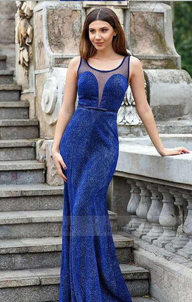 Mermaid Scoop Lace Bowknot Prom Dress, Sequin Long Formal Dress,BD98658