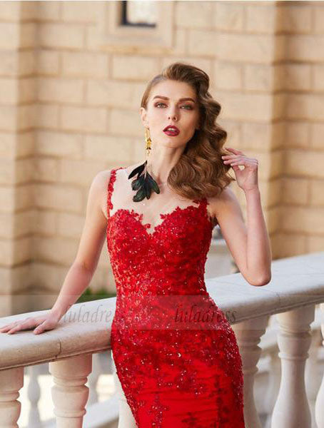 Mermaid Evening Dress,Fitted Prom Dress,Gorgeous Prom Dress,BD99822