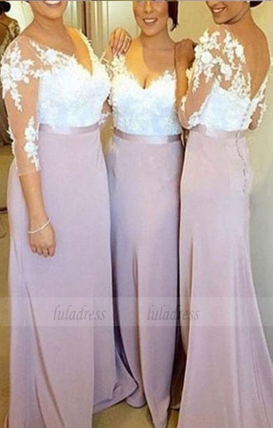 Long mermaid bridesmaid dresses, Lavender wedding party dresses, long prom party dresses,BD98273