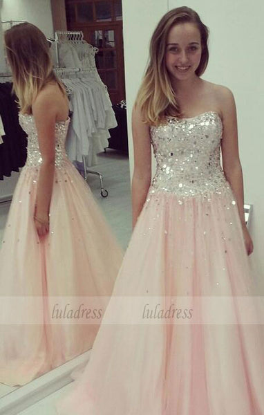 Elegant Evening Dress,Tulle Evening Gowns,Party Gowns With Beading,BD99261