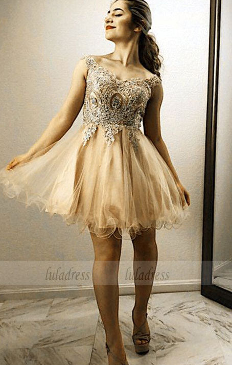 6bb4ad6d8d ... Gold Lace Embroidery Homecoming Dresses Off Shoulder Prom Cocktail Dress