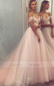 off the shoulder pink long ball gown,BD99660