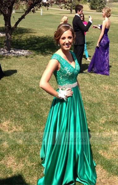 Sexy Prom Dress,Hunter Green Prom Dresses,Formal Gown,Lace Evening Gowns,BD99446